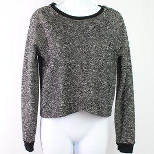 Fabletics Keeva black crop top pullover long sleev